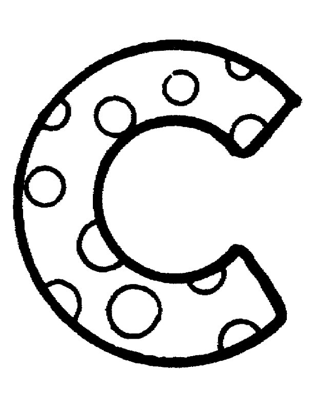 c bubble letter coloring pages - photo #1