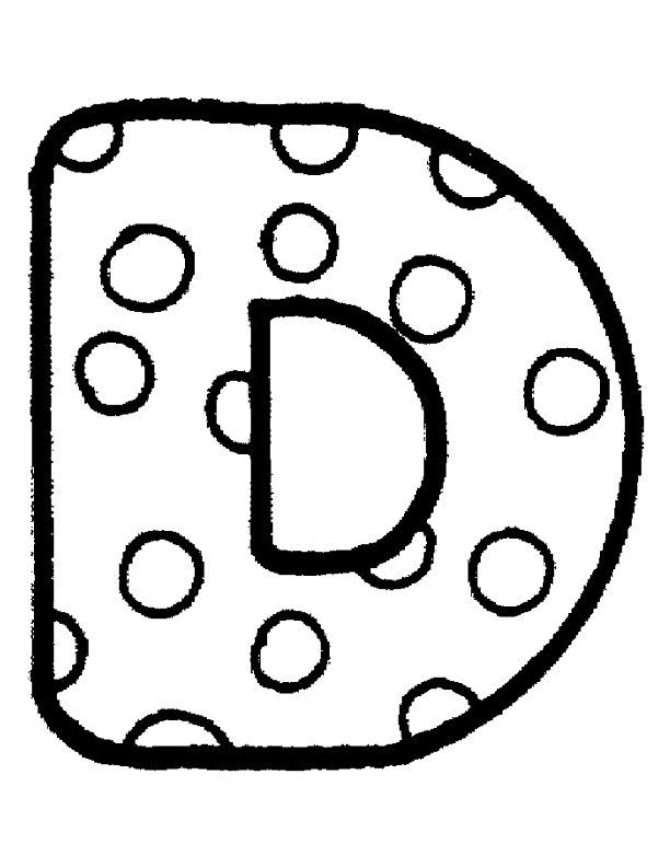 preschool coloring pages bubble letters - photo#43