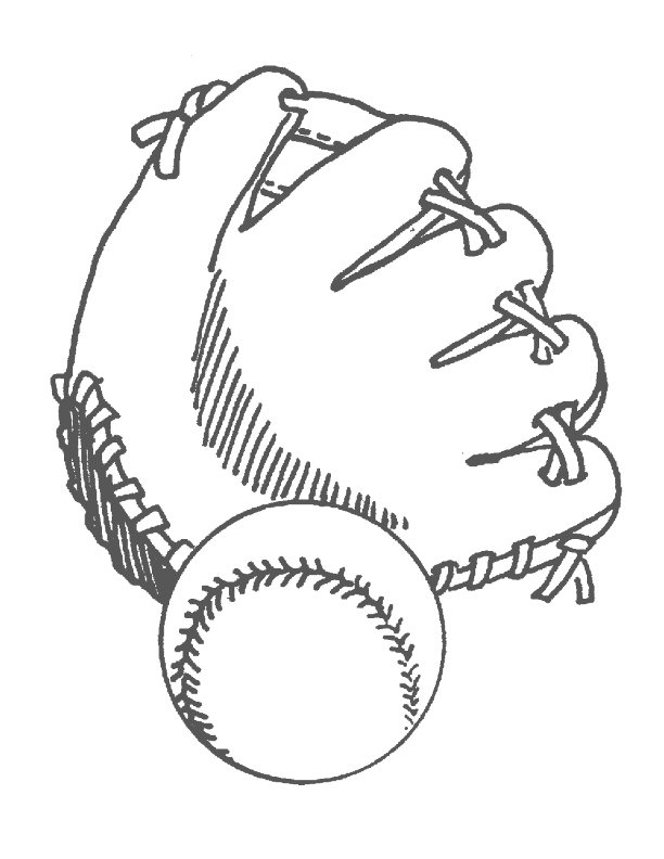 baseball glove coloring pages - photo#20