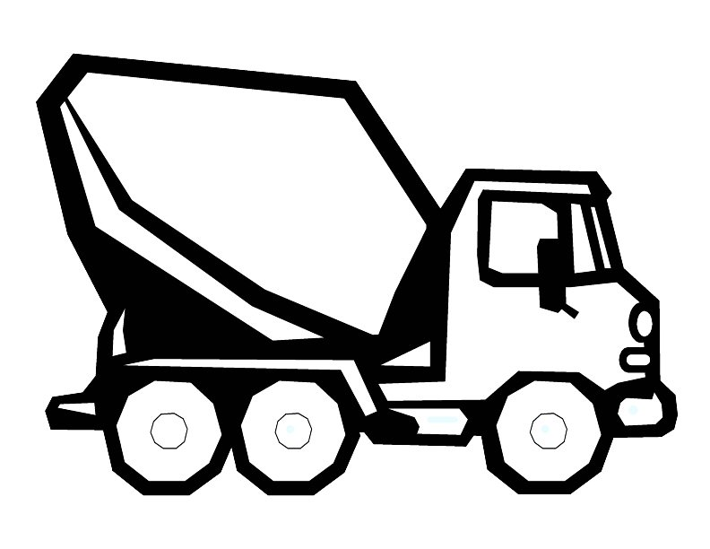 concrete mixer truck coloring pages - photo#36