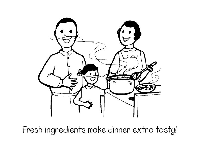 preschool family themed coloring pages - photo#15