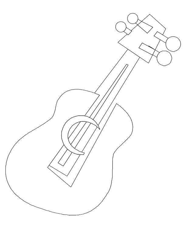 Coloring Page Guitar Pics Photos Electric Color