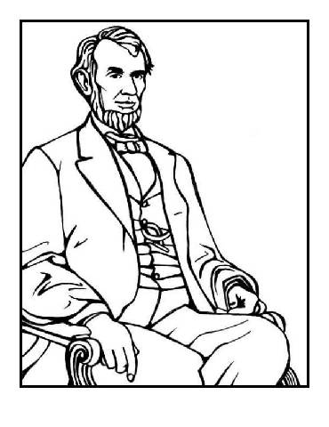 coloring pages abraham lincoln - preschool presidents day coloring pages