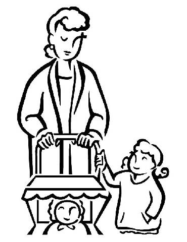 family theme preschool coloring pages - photo#10