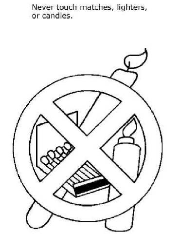 HD Fire Safety Coloring Pages Vector Drawing » Free Vector Art ... | 480x370