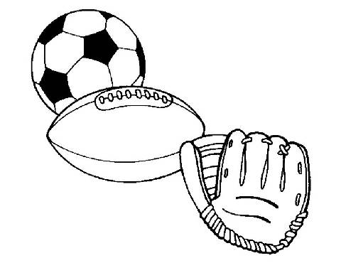Preschool Sports Coloring Pages