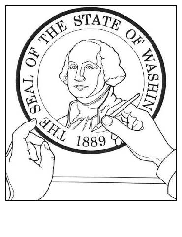 Washington state seal coloring page pictures to pin on for Washington state seal coloring page
